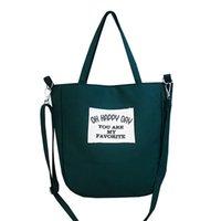 moda pamuklu çanta torbaları toptan satış-Raged Koyun Yumuşak Kanvas Çanta Büyük Kapasiteli Kadın Alışveriş Çantası Moda Mektup Pamuk Tuval Kumaş Eko Tote Bolso Mujer