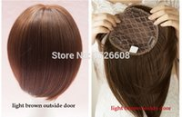 Wholesale hair cut clips - New Full Density Lace Hair Closure Straight Hair Extension Silk Base Short Bob Cut Hairstyle Free Part Clip in Hair Toupe