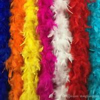 ingrosso decorazioni del partito del boa del piuma-DLM2 2020 Boa di piume 180 cm burlesque showgirl addio al nubilato night fancy dress party dance costume accessorio matrimonio decorazione fai da te 17 colori Z903