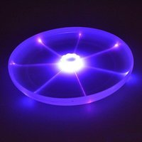 Wholesale outdoor toy spins resale online - 24cm Dog Flying Disk Arrow Colorful Pet Toy Spin LED Light Outdoor Toy Flying Saucer Disc