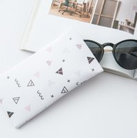 Wholesale waterproof leather plastic sunglasses for sale - Free Design Waterproof Leather Plastic Sunglasses Pouch Soft Eyeglasses Bag Glasses Case Many Colors Mixed cm D652