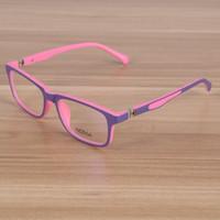 óculos quadro rosa venda por atacado-Crianças Óculos Crianças TR90 Flexível Simples Óculos de Armação de Óculos de Prescrição Óptica Óculos Meninas Meninos Rosa Patchwork Óculos