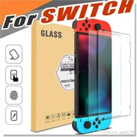 Wholesale Hd Mirror Screen Protector - For Nintendo Switch Tempered Glass HD Clear Anti-Scratch Glass Screen Protector Version 1.0 2017 Ultra Thin 0.32mm HD Clarity Scratch Proof