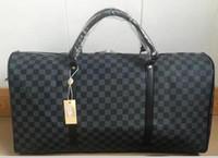 Wholesale Nylon Designer Bags - 55CM Keepall Weekender Keepall bag PU Leather large capacity women travel bags Holdall duffel bag famous designer men
