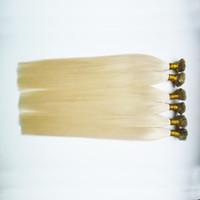 nagelspitze haarverlängerungen 1g keratin großhandel-Gerade Keratinkapseln Human Fusion Hair Nail Flat Tip Haarverlängerungen 300s Remy Pre Bonded Hair Extension 16