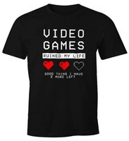 Wholesale good video games for sale - Herren T Shirt Video Games ruined my Life good thing New Design Cotton Male Tee Shirt Designing