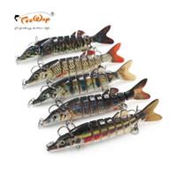Wholesale segment swimbait crankbait hard bait online - Teeway cm g Fishing Lures Segments Swimbait Crankbait Fishing Lure Hard Bait with Artificial Hooks Fishing Wobblers