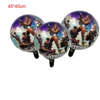 Wholesale toys balloons kids online - 18 inch cm Fortnite Foil Balloons Birthday Party Decorations Globos Kids Toys Party Supplies Cartoon Animal Kids Toys MMA423