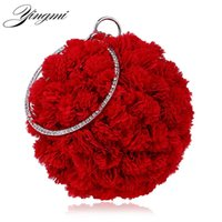 Wholesale side clutch chain bags resale online - YINGMI Flower Party Women Bag Crystal Round Small Day Clutch Wedding Bridal Chain Shoulder Handbags One Side Purse Bag Y18110101