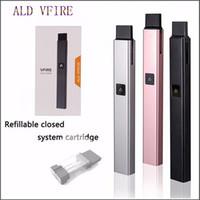 проектная электроника оптовых-ALD VFIRE Elegent Design Электронный набор для сигарет на 500 мАч Емкость аккумулятора с емкостью 1 мл Мини портативный набор Vape Pen
