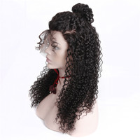 Wholesale Indian Remy Kinky Curly Wig - Glueless Pre Plucked Full Lace Human Hair Wigs For Black Women Kinky Curly Wig Peruvian Human Hair With Baby Hair Remy 130% HCDIVA