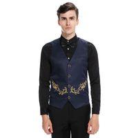 chinos hombres traje formal al por mayor-Chaleco de traje de estilo chino  Hombres Chaleco 2ed1089e8cfc
