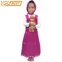 Wholesale bear fancy dress costumes - Cosplay Party Decoration Roupa Da Masha and Bear Clothing Costume For Kids Masha Y el oso Childrens Fancy Dress anime onesie