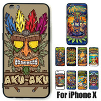 Wholesale Iphone Beach - Custom design For iPhone X beach tiki man mask Shockproof fashion Silicone Case durable Soft TPU Cases Cover For iphone 6 7 plus