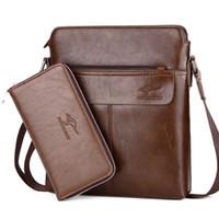 Wholesale men leather messenger bag kangaroo for sale - Group buy Kangaroo Brand New Men Messenger Bags Small Men Shoulder Bags High Quality Crossbody Bag For PU Leather Laptop Handbag M003
