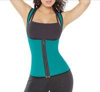 корсет для талии оптовых-double shoulder Back support full Neoprene vest waist cincher trainer fitness slimming waist corset xs-2xl
