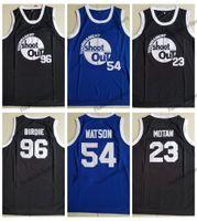 black out jersey achat en gros de-Tournoi pour hommes Shoot Out Birdmen # 23 Maillot de basketball Motaw 96 Birdie 54 Kyle Watson au-dessus de la jante Moive Noir Chemises Surpiquées