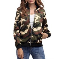 Wholesale Jacket Style Blouses - 2017 spring and autumn winter new fashion camouflage jacket jacket blouses in the European and American style comfortable and comfortable dr