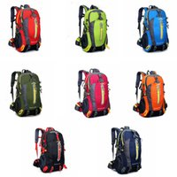 Wholesale rucksack outdoor laptop online - 40L Waterproof Tactical Backpack Hiking Bag Cycling Climbing Backpack Laptop Rucksack Travel Outdoor Bags Men Women Sports Bag GGA474