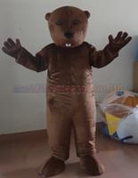 ingrosso vendite di giocattoli adulti-il formato adulto della mascotte del costume della mascotte del castoro, il partito di carnevale del giocattolo della peluche della mascotte del castoro celebra le vendite della fabbrica della mascotte.