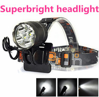 Wholesale Led Light Bulbs For Bikes - 2-IN-1 Headlamp 10000 Lumen XML 5x T6 LED Bicycle Bike Light Lamp Camping lanterna Led Headlight For Cycling linterna frontal