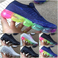 Wholesale infant lace tops - Top Quality Vapormax Platinum Kids Laceless Running Shoes 2018 Infant & Children Sports Shoes Toddler Trainer Boy & Girl Sneaker