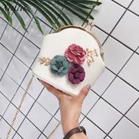 Wholesale stereo handbags resale online - Handbag Women Fashion Shoulder Stereo Flowers Leather Hasp Small Tote Messenger Crossbody Bags for Women bolsa feminina D18102906