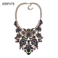 ювелирные изделия с золотым слоем оптовых-JERPVTE Vintage Gold Silver Choker Necklace For Women  Maxi Statement Necklaces & Pendants Layered Jewelry Collar Necklaces