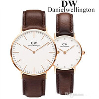ingrosso sveglia digitale gialla-reloj mujer New Daniel orologio di lusso di marca orologi per donna moda uomo orologi cinturino in pelle orologi da polso al quarzo nero orologio maschile