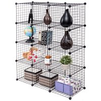 Wholesale Wire Storage Cubes Shelves DIY Grid Organizer Wardrobe Organizer Bookcase