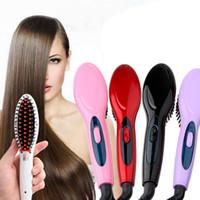 fırça tüyleri toptan satış-Elektrikli saç düzleştirici fırça Saç Bakımı Şekillendirici Tarak Oto Masaj Doğrultma Ütüler SimplyFast Saç demir