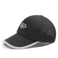 2a3e78603c9875 large ball caps NZ - Summer Baseball Cap Men Large Size Embroidery Brand  Mesh Sports Black