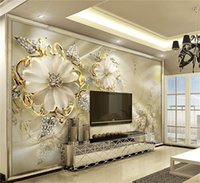 Wholesale Heating Panels - Wall Panel Wallpaper Marble Diamond Jewelry Rose Background Modern Europe Art Mural for Living Room Large Painting Home Decor