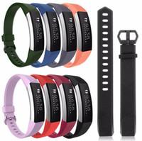 verstellbare silikonarmbänder großhandel-Hohe Qualität Weiches Silikon Sichere Einstellbar Band für Fitbit Alta HR Band Armband Armband Armbanduhr Ersatz Zubehör