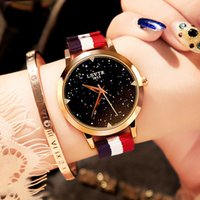 casual dress nude women 2018 - Women Dress Watches Casual Leather Nylon Strap Relogio Feminino New Fashion Luxury Brand Lady Sky Quartz Wristwatch