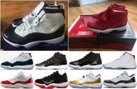 Wholesale Product Canvas - New Products Men Basketball Shoes 11 UNC Chicago red Midnight Navy WIN LIKE 82 96 UNC Space Jam Sports Shoes with Box