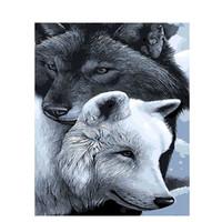 Schon Moderne Graue Wandfarbe Großhandel Rahmenlose Grey Wolf Diy Malen Nach  Zahlen Kalligraphie Malerei Moderne Wandkunst