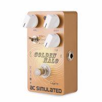 pédales d'effets acoustiques achat en gros de-Caline CP-35 Golden Halo Pédale d'effet guitare True Bypass AC SIMULATED Pédale de simulateur acoustique au son de qualité