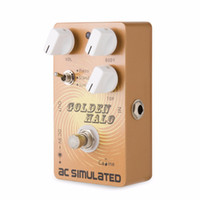 Wholesale acoustic guitar effects for sale - Group buy Caline CP Golden Halo Pedal Guitar Effect Pedal True Bypass AC SIMULATED Good sounding acoustic simulator pedal