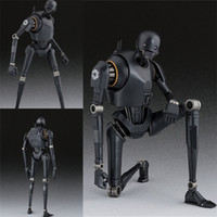 Wholesale robot real doll - Action Figure Real Toys Rogue NO 1 K-2SO SHF Guarts Movie Movable Robot Model PVC 15cm Anime Doll Gift 60lz YY