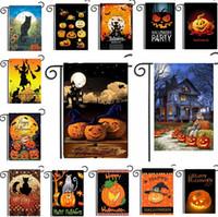 ingrosso civetta decorativa del giardino-Nuovo 5 serie Halloween Garden Flags Pumpkin Owl Flags Hanging Bandiere esterne Decorazioni per feste forniture IA661