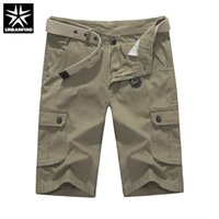 Discount plus size skinny belt - Wholesale- URBANFIND Army Green   Khaki Men Cargo Shorts Plus Size 29-40 Summer Cotton Man Casual Pocket Shorts Without Belt