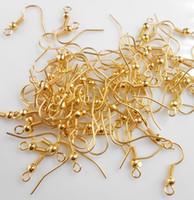 takı tel boncuk yapma toptan satış-Toptan DIY TAKı 200 ADET Yapımı Küpe Kanca Bobin Kulak Tel BONCUK ILE