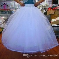 Wholesale Beautiful Crochet - Long Train Petticoat Wedding Dresses Beautiful Bridal Gown Petticoat Petticoats Underskirt A Lined For Dress And Gowns With Hoop