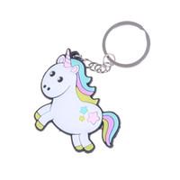 keychain do cavalo da liga venda por atacado-Unicórnio Keychain Multi-estilo do cavalo Titular da chave liga Anel chave para a mulher presente Meninas