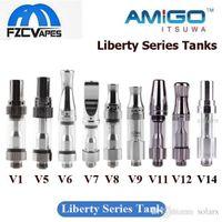 Wholesale Authentic Glass - 100% Original Itsuwa Amigo Liberty Tank V1 V5 V6 V7 V8 V9 V10 V11 V12 V14 Glass Cartridge 0.5ml Ceramic Coil Authentic