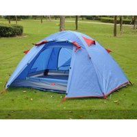 продажа палаток оптовых- 2 Person Double Layer Outdoor Camping Rainproof 3 Season Tents for Fishing Hunting Adventure Family Party Tent On Sale