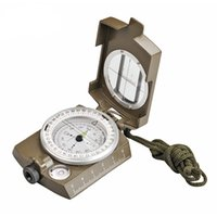 Wholesale military compasses resale online - Professional Military Army Metal Sighting Waterproof Compass for Outdoor Sport Clinometer Camping Hiking Trave Outdoor Gadgets