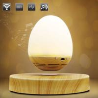haut-parleurs bluetooth achat en gros de-Multi-fonctionnel en forme d'œuf USB de chargement LED Night Light Innovante Levitation magnétique Haut-parleur sans fil Bluetooth