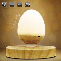 manyetik kaldırma hoparlörleri toptan satış-Çok fonksiyonlu Yumurta Şekli USB Şarj LED Gece Lambası Yenilikçi Manyetik Levitasyonunun Kablosuz Bluetooth Hoparlör